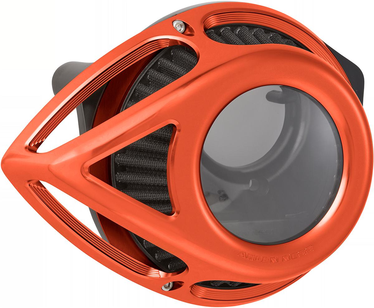 Arlen Ness Tear Orange Clear Air Filter Cleaner 2008-2017 Harley Touring FLHX