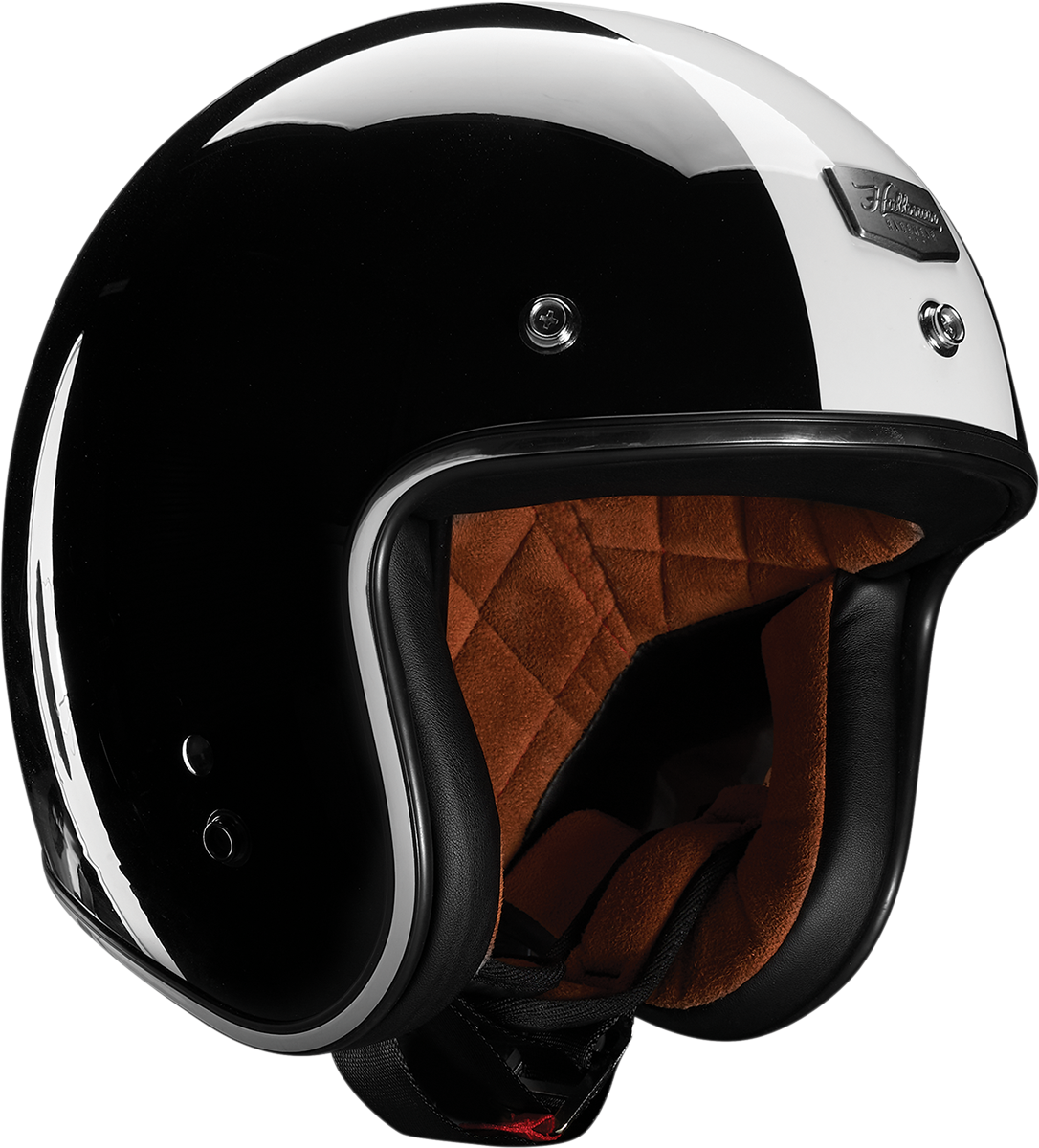 Thor Hallman Mccoy Open Face Black White Motorcycle Riding Street Helmet