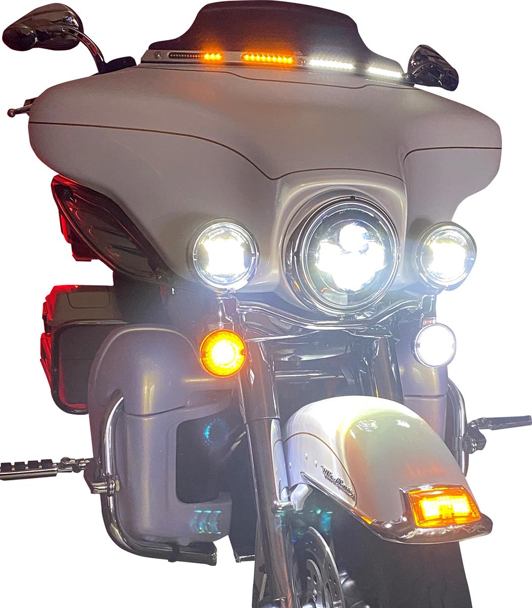Custom Dynamics LED Batwing Fairing Windshield Trim 1996-2005 Harley Touring