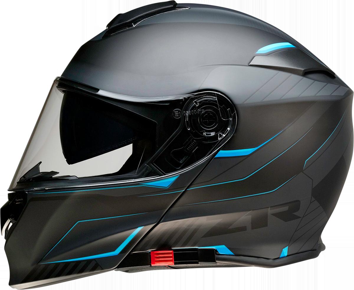 Z1R Scythe Black Blue Modular Fullface Motorcycle Riding Street Racing Helmet
