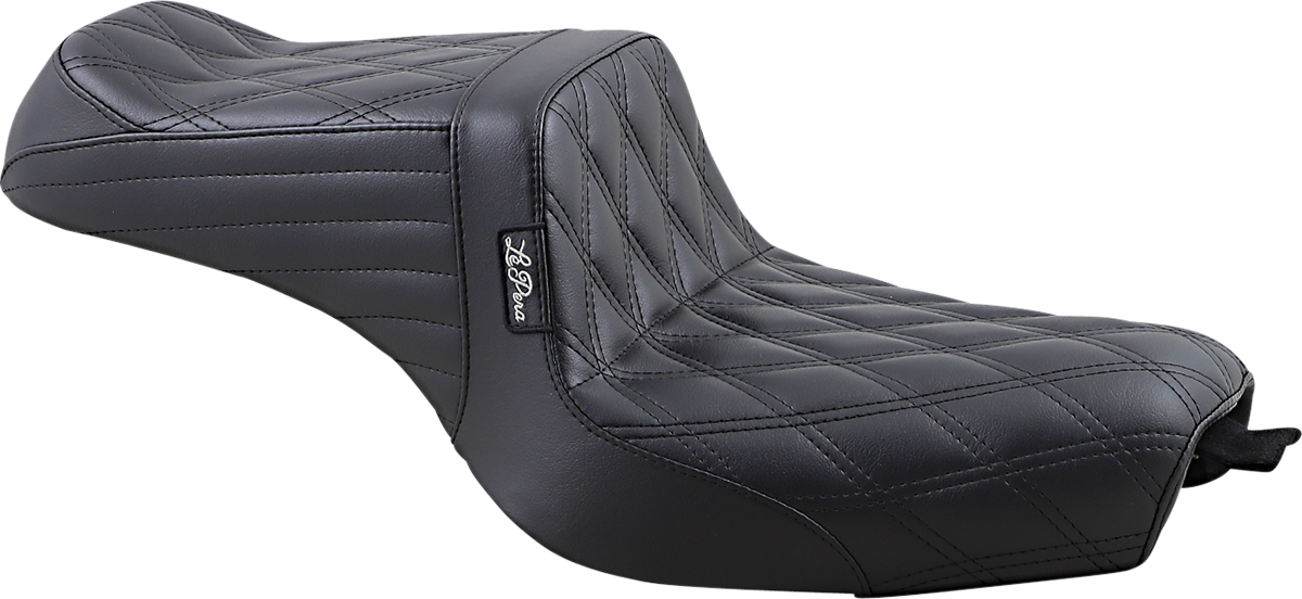 Le Pera Tailwhip Double Diamond 2 up Motorcycle Seat 10-20 Harley Sportster XLC