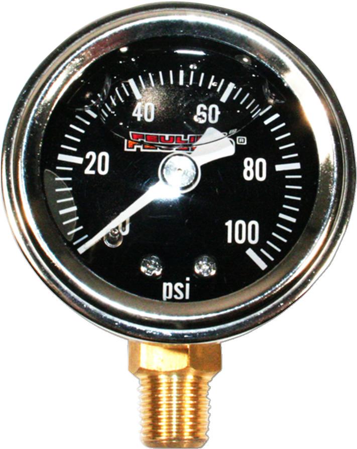 Feuling Black Stainless Universal Motorcycle 100PSI Oil Pressure Gauge Harley
