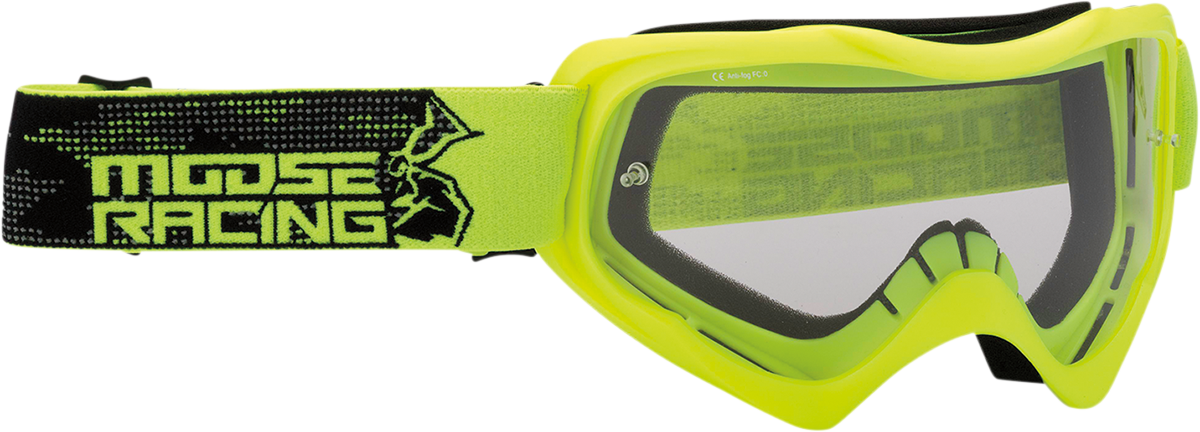 Moose Qualifier Agroid Hi-Viz Motorcycle Riding Dirt Bike Racing Goggles MX