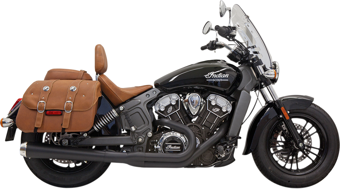 Bassani Road Rage 2-1 Black Long Exhaust 2015-2021 Indian Scout Sixty Bobber