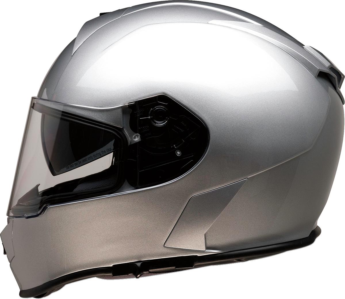 Z1R Warrant Unisex Silver Full Face Motorcycle Riding Street Racing Helmet