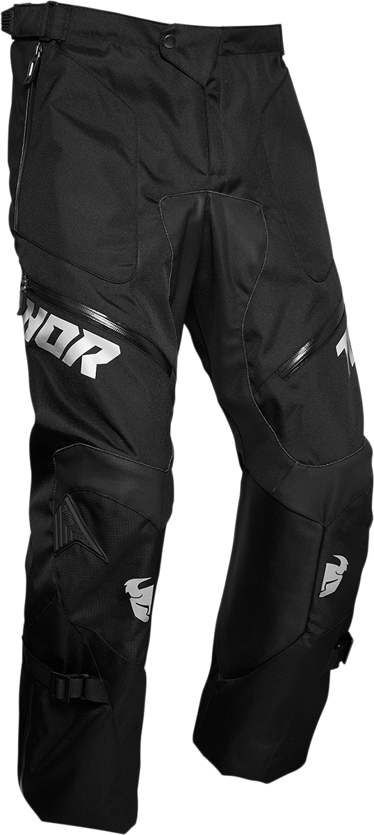 Thor Terrain Mens Textile Black Offroad Riding Dirt Bike MX Racing Pants