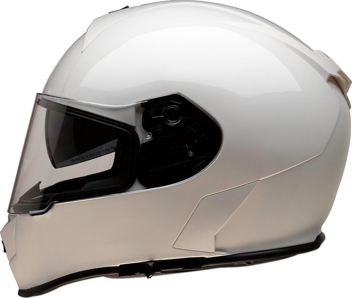 Z1R Warrant Unisex White Full Face Motorcycle Riding Street Racing Helmet