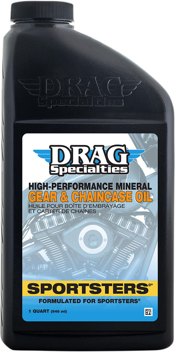 Drag Specialties Gear & Chain Case Sporty Lube Oil 1971-2021 Harley Sportster
