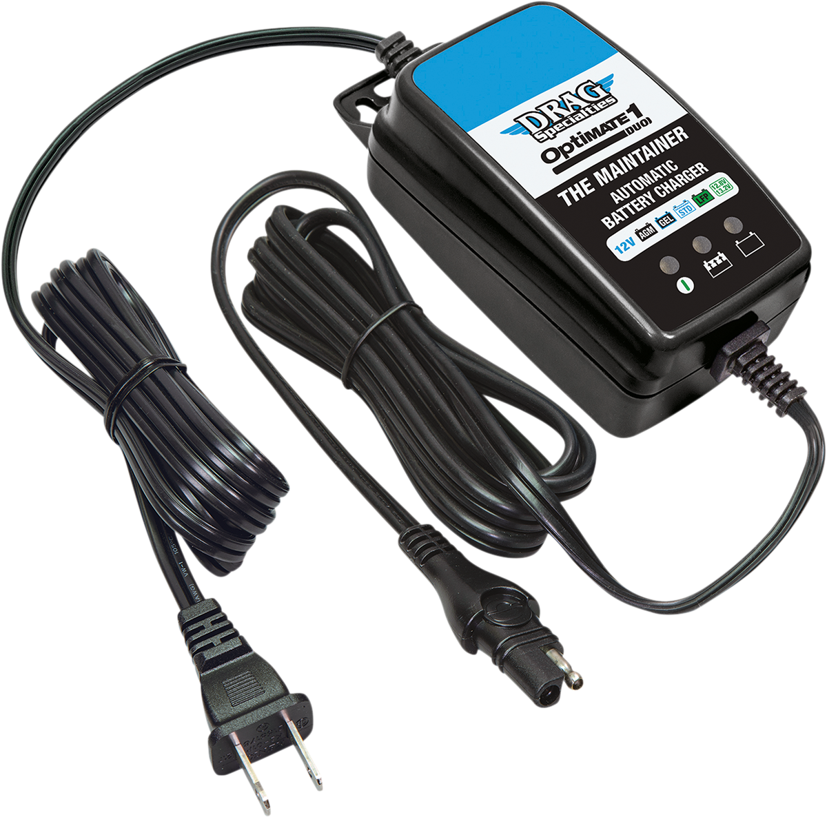 Drag Specialties OptiMate Duo 1 Motorcycle Battery Charger Maintainer for Harley