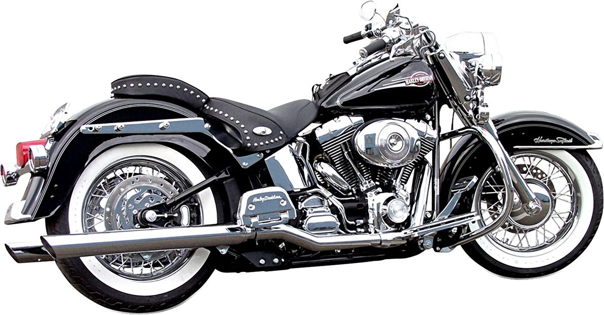Bassani Chrome Slash Up Slip on Exhaust Mufflers 89-17 Harley Softail FLSTF FXST