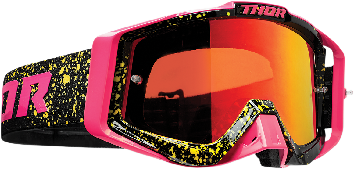 Thor Sniper Pro Unisex Flo Pink Black Offroad Riding Dirt Bike Racing MX Goggles