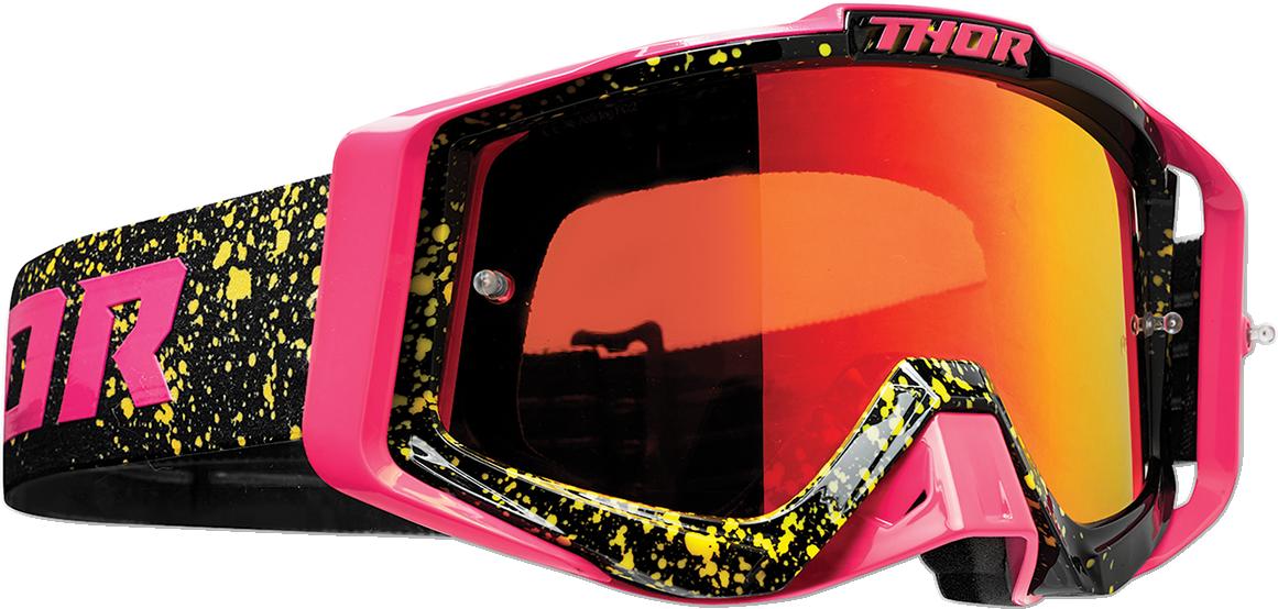 Thor Sniper Pro Unisex Flo Pink Black Offroad Riding Dirt Bike Racing MX Goggles