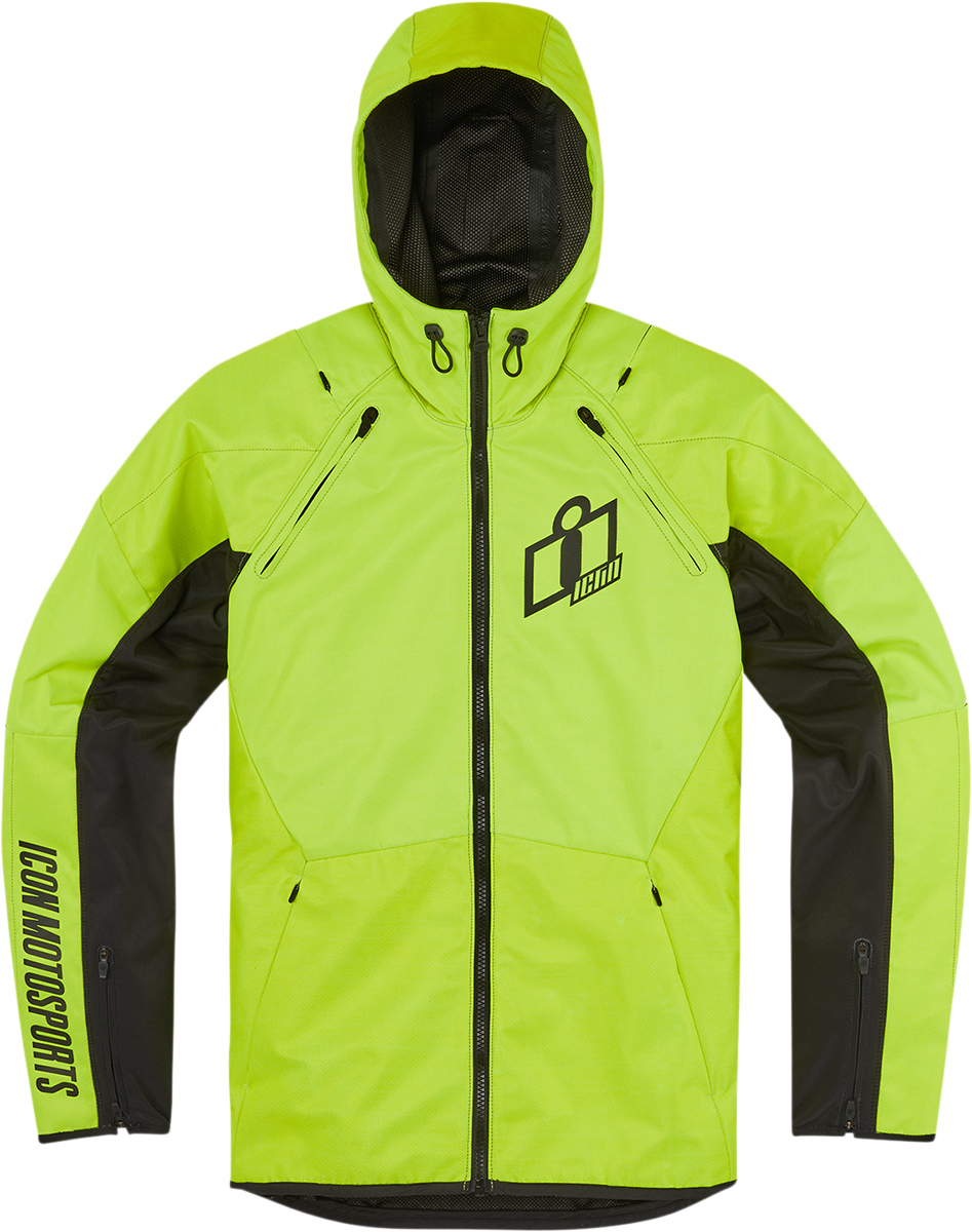 Icon Airform Adult Mens Hi-Vis Motorcycle Riding Street Racing Zipper Jacket