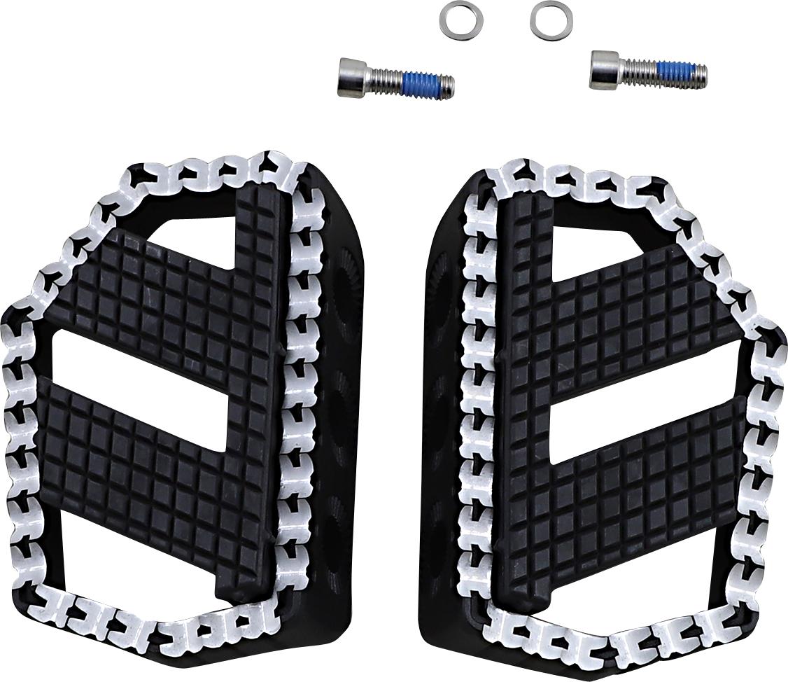 Kuryakyn 3285 Riot Black Universal Motorcycle Mini Floorboard Kit for Harley