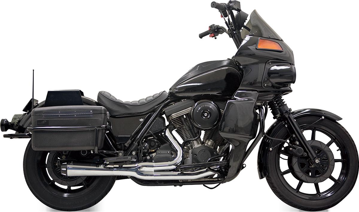Bassani Road Rage II Chrome 2-1 Motorcycle Exhaust for 1984-2000 Harley FXR FXRT