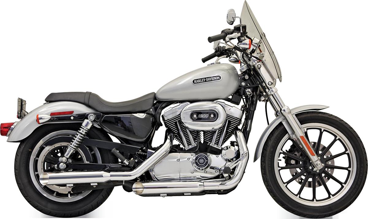 "Bassani Firepower Chrome 3"" Slip on Exhaust Mufflers 04-13 Harley Sportster XL"