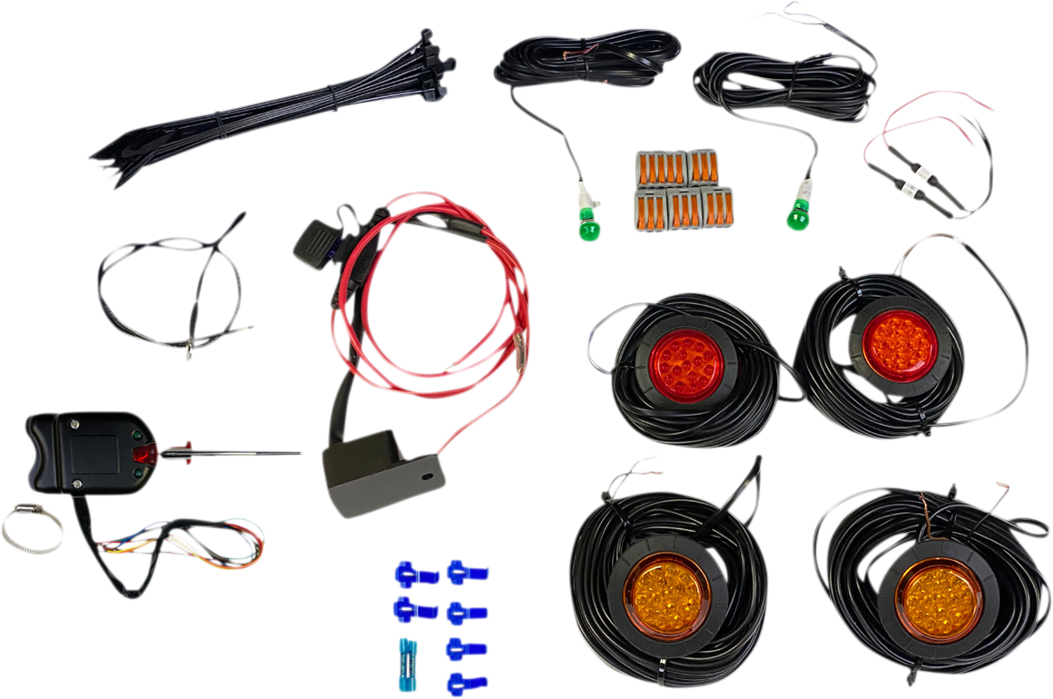 Custom Dynamics Universal ATV UTV Offroad Amber Red LED Turn Signal Kit & Switch