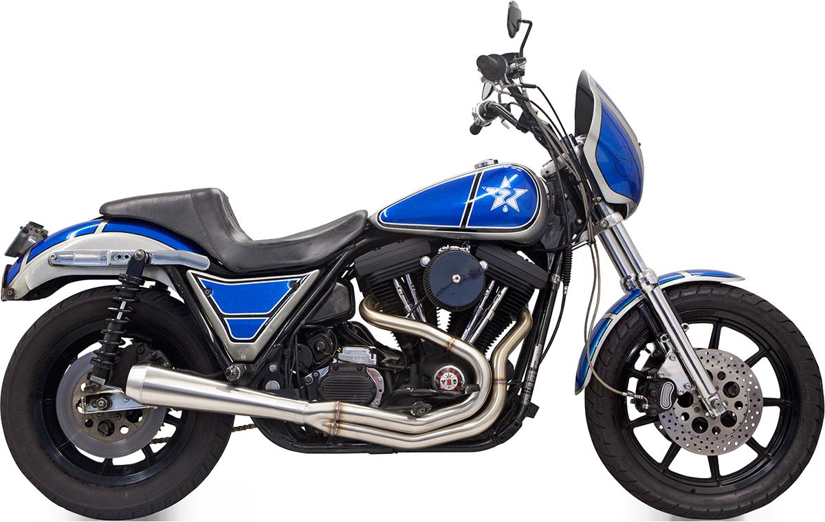 Bassani Road Rage III Stainless Exhaust 1984-2000 Harley Davidson FXR FXRT FXRS