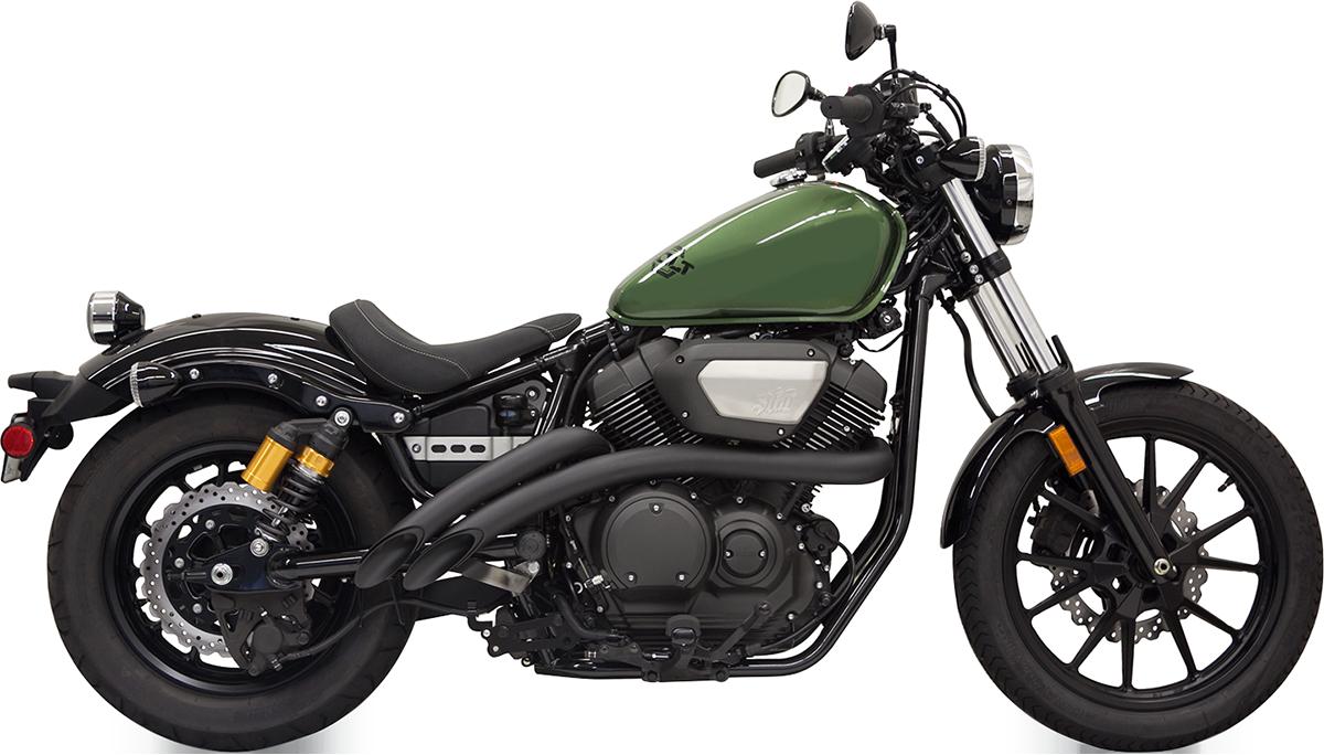 Bassani Black Radius Sweeper 2-2 Exhaust 2014-2019 Yamaha Bolt XV 950 Spec