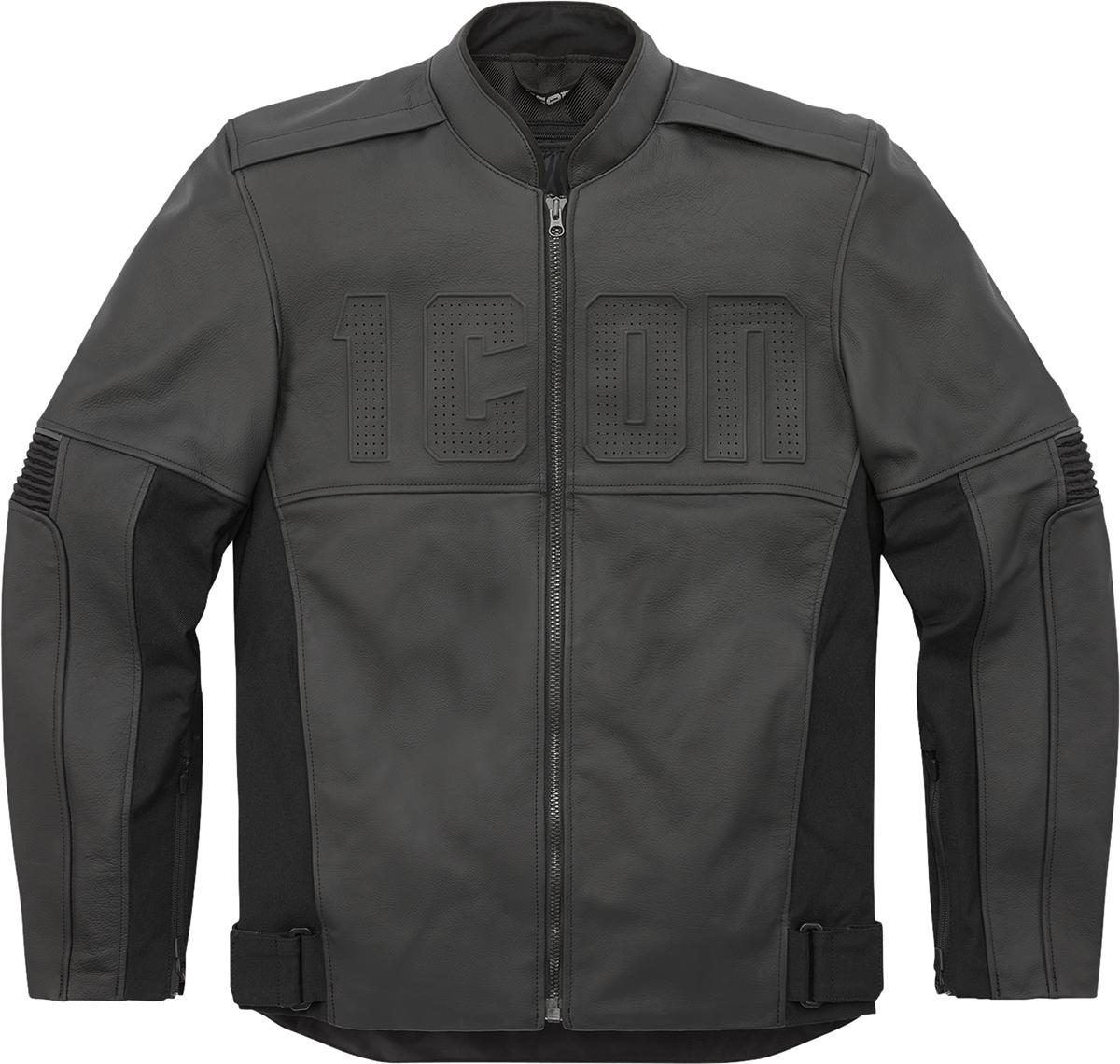 Icon Motorhead3 Mens Motorcycle Riding Street Racing Black Armored Jacket
