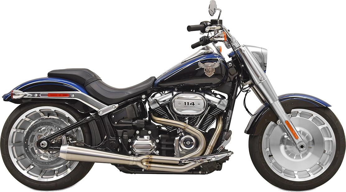 Bassani Road Rage III Short 2-1 Exhaust 18-20 Harley Softail Fat Boy FXBR FLFB