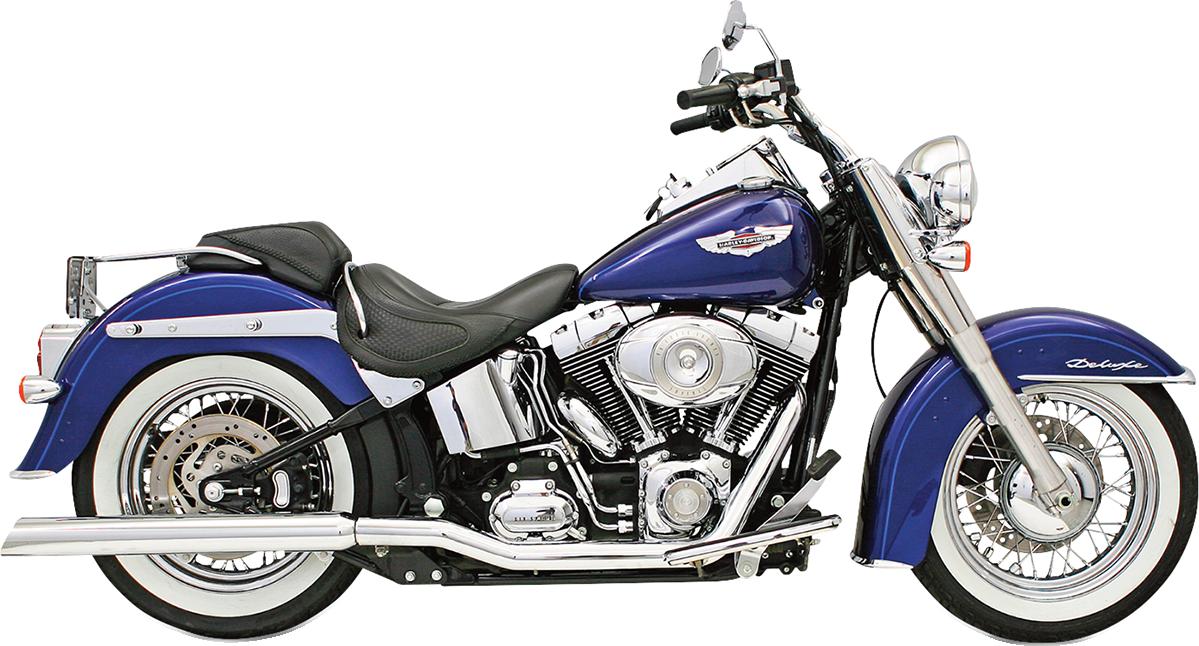 Bassani Chrome Slash Down Slip on Exhaust Mufflers 89-17 Harley Softail FXST