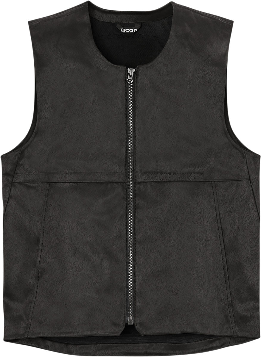 Icon Backlot Mens Textile Black Motorcycle Riding Street Casual Club Vest