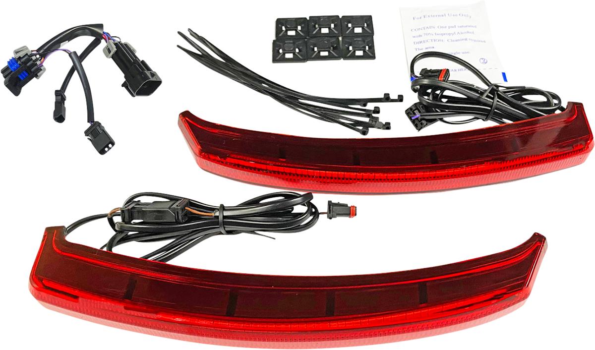 Custom Dynamics Red LED Rear Saddlebag Lights 19-21 Indian Challenger Dark Horse