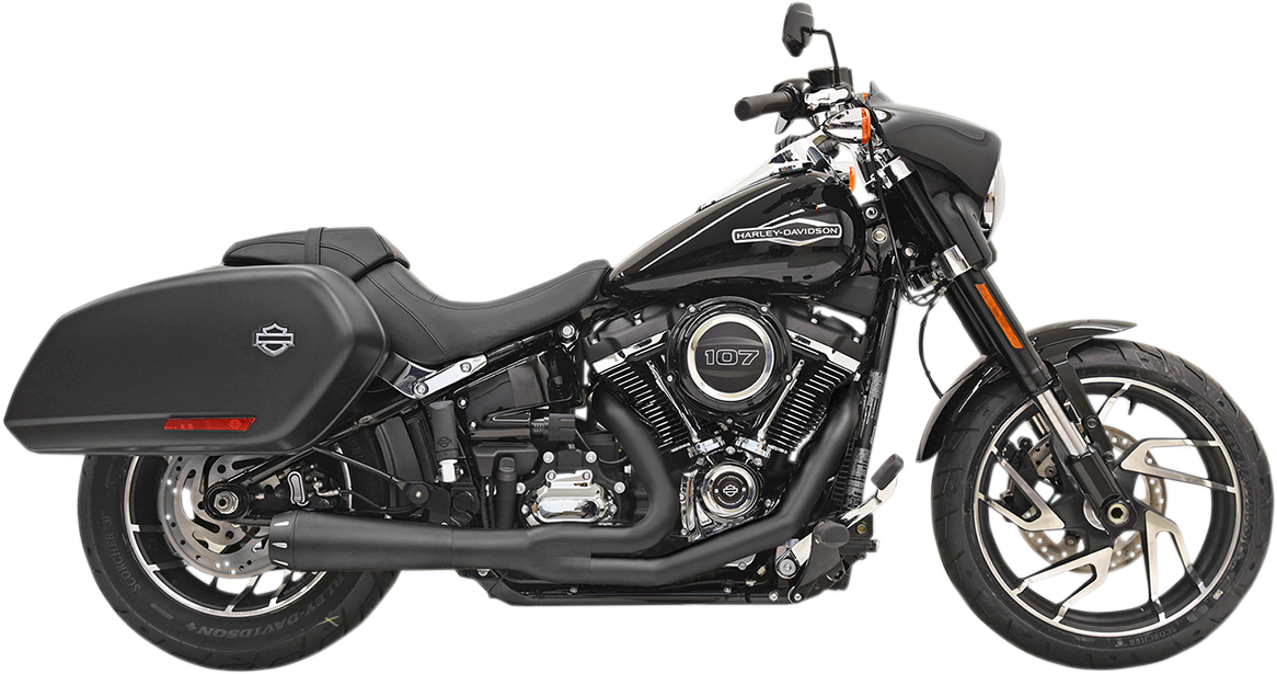 Bassani Road Rage Black Motorcycle Exhaust 18-21 Harley Softail Sport Glide