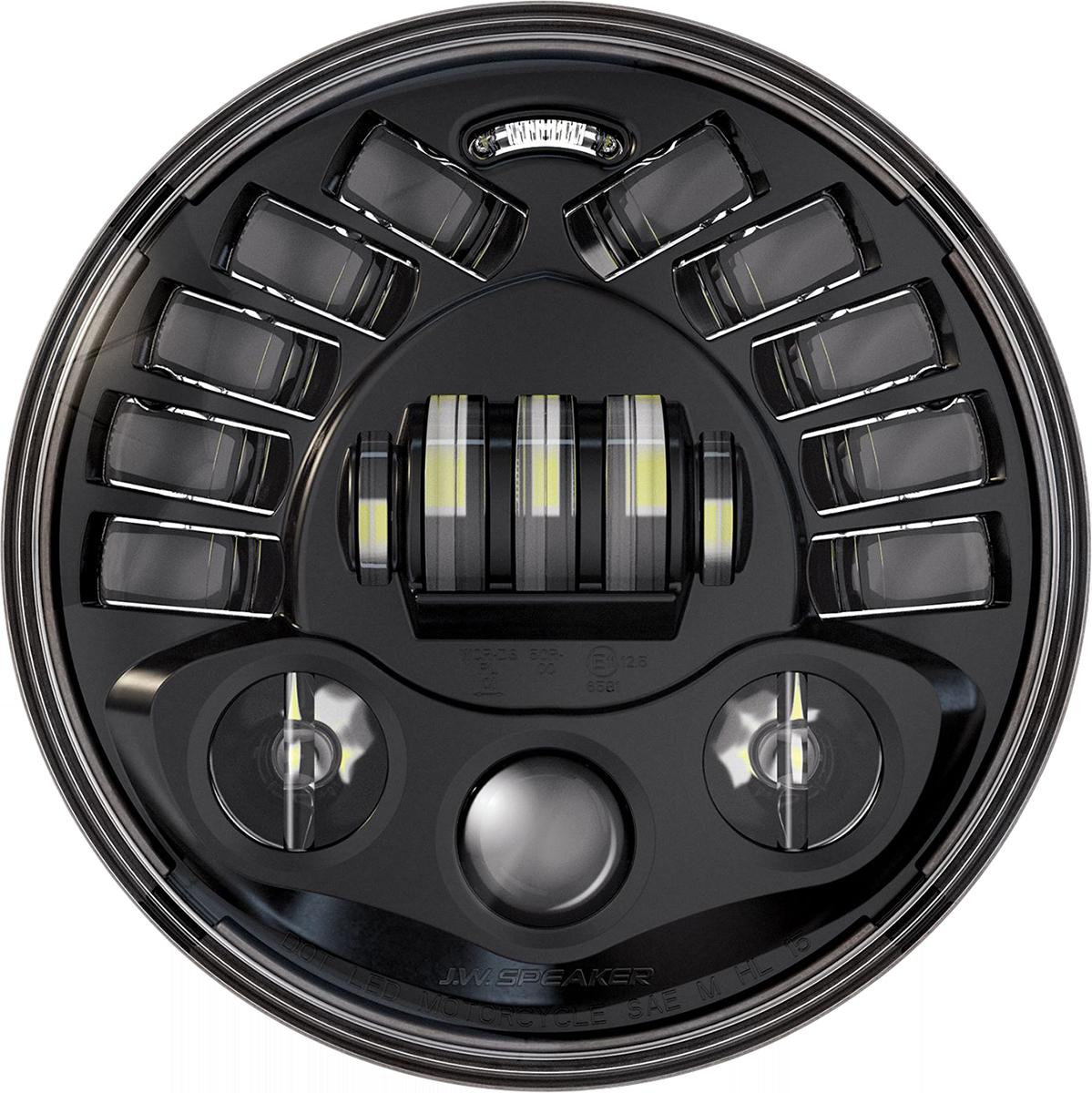 "Custom Dynamics ProBEAM 7"" Black LED Adaptive Headlight 84-21 Harley Softail"