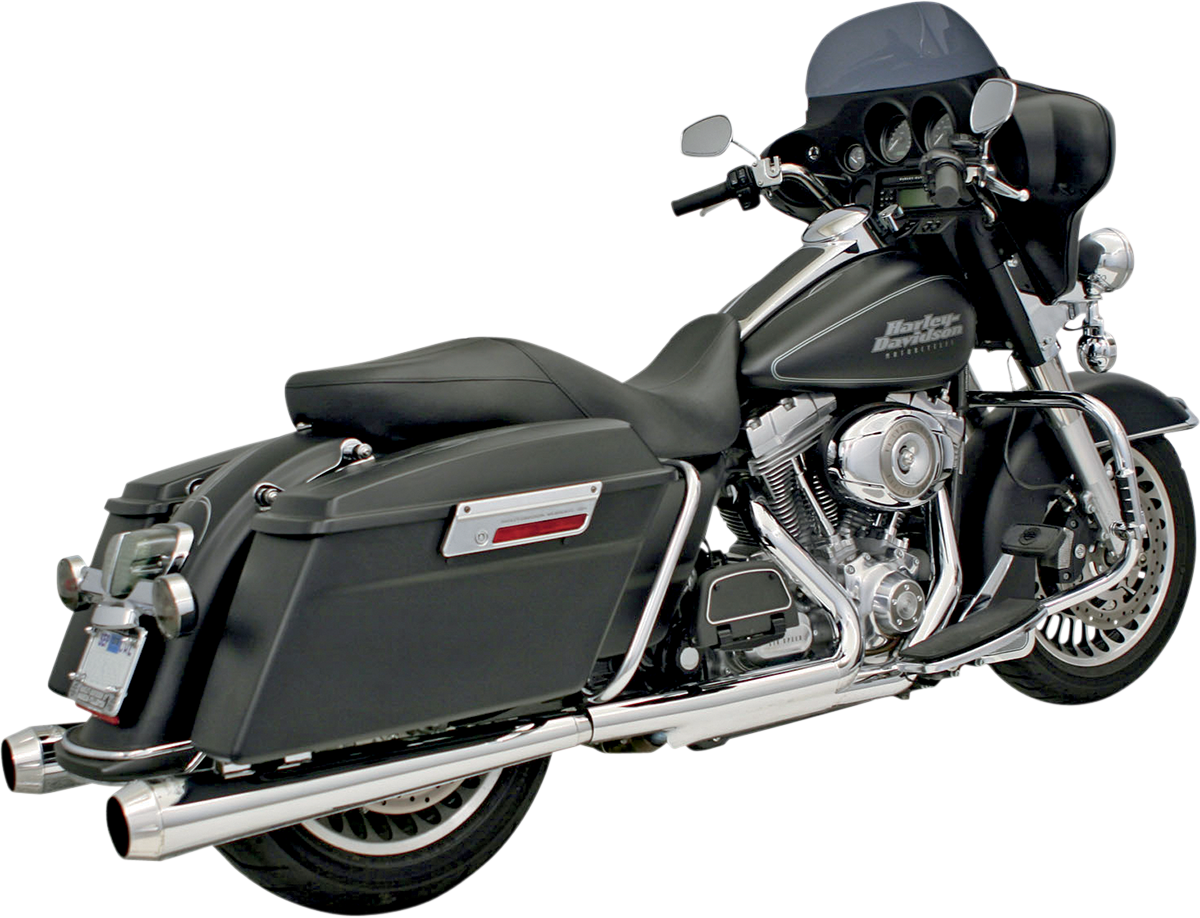 Bassani Megaphone Chrome Slip on Exhaust Mufflers 95-16 Harley Touring FLHR FLHX