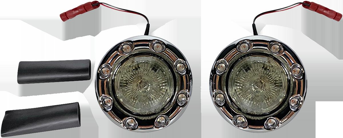 Custom Dynamics ProBEAM Chrome LED Bullet Ringz Turn Signals 2014-2021 Indian
