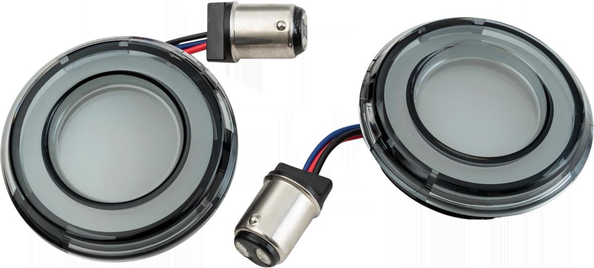 Kuryakyn 2904 Tracer Smoke Lens Amber LED Front Turn Signal Conversion Kit
