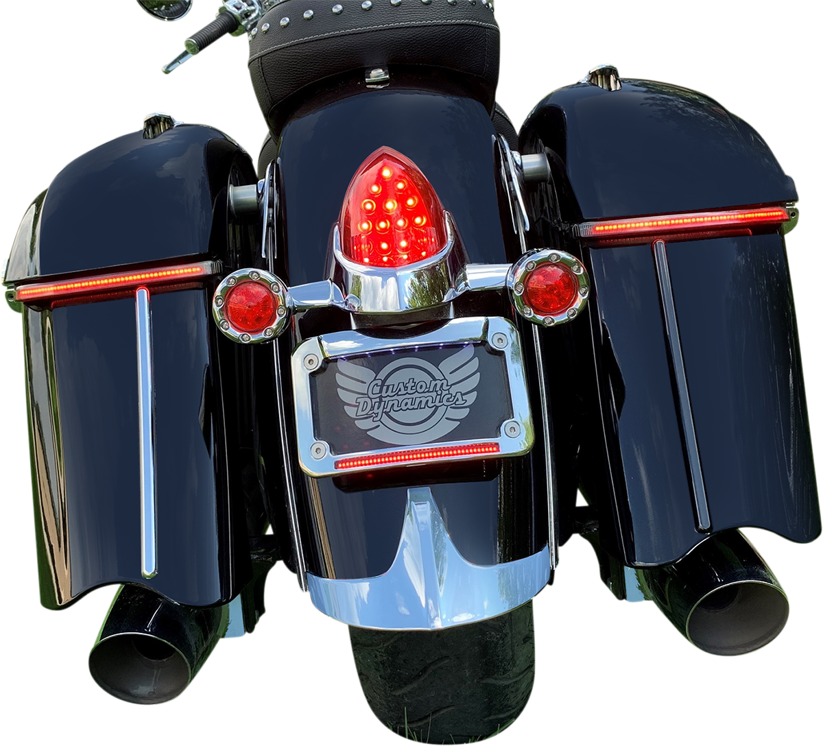 Custom Dynamics Red Low Profile LED Saddlebag Lights 2015-2021 Indian Chieftain