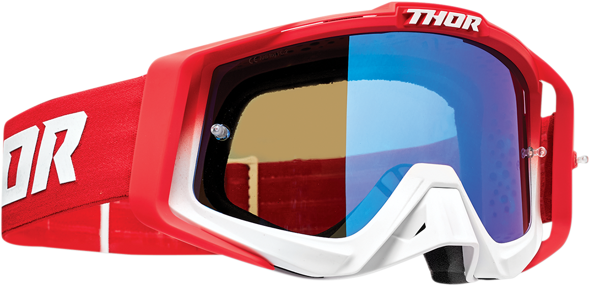 Thor Sniper Pro Unisex Fader Red Offroad Riding Dirt Bike Racing MX Goggles