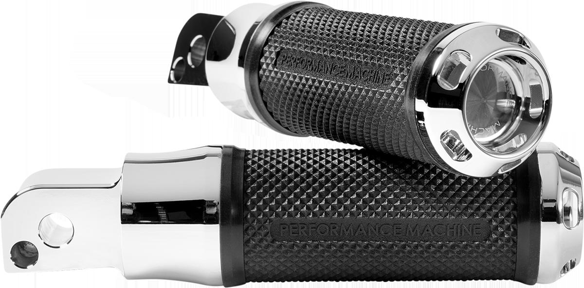 Performance Machine Apex Chrome Passenger Footpegs 2018-2020 Harley Softail FLSL