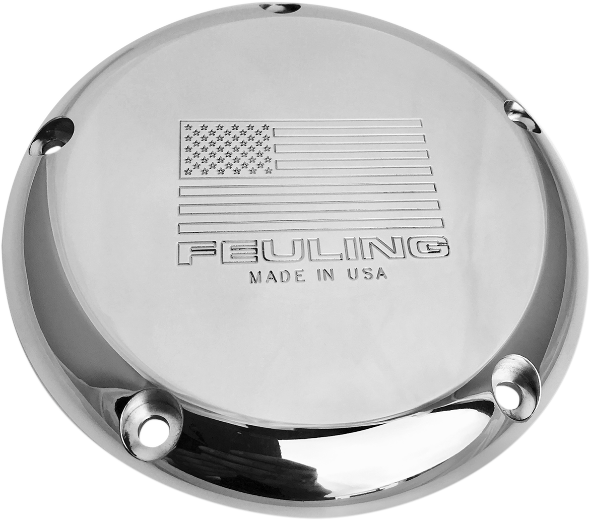 Feuling Polished American 5 Hole Derby Cover 15-18 Harley Touring FLHR FLHX