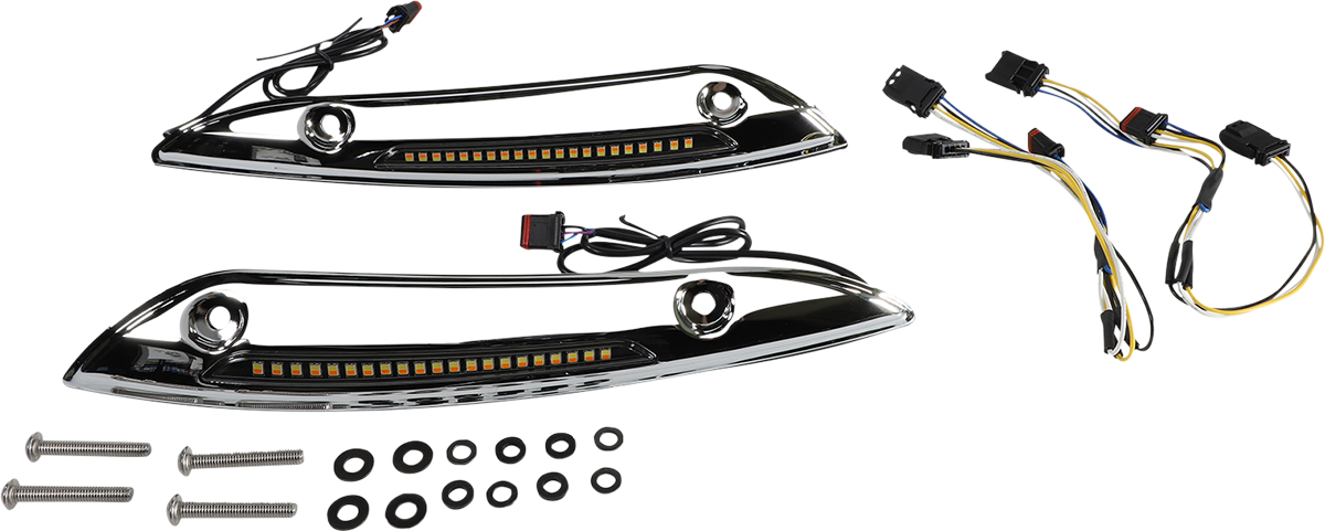 Custom Dynamics Sequential LED Windshield Fairing Trim 2015-2021 Harley Touring