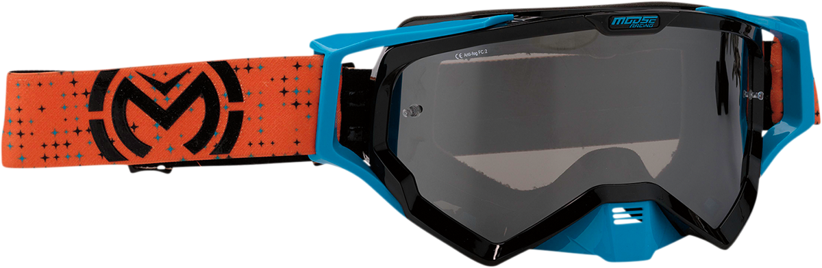Moose XCR Pro Stars Orange Black Offroad Riding Dirt Bike ATV MX Racing Goggles