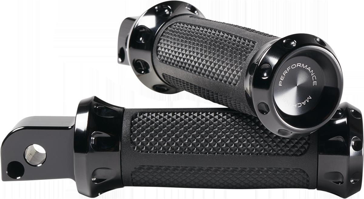 Performance Machine Black Over Drive Passenger Footpegs 2018-2020 Harley Softail