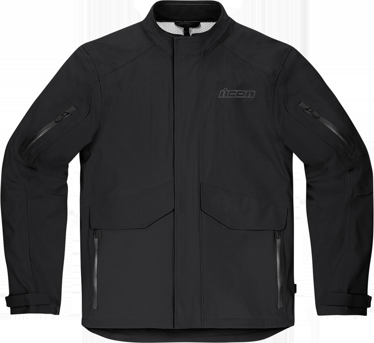 Icon Stormhawk Mens Black Textile Motorcycle Riding Street Racing Zipper Jacket