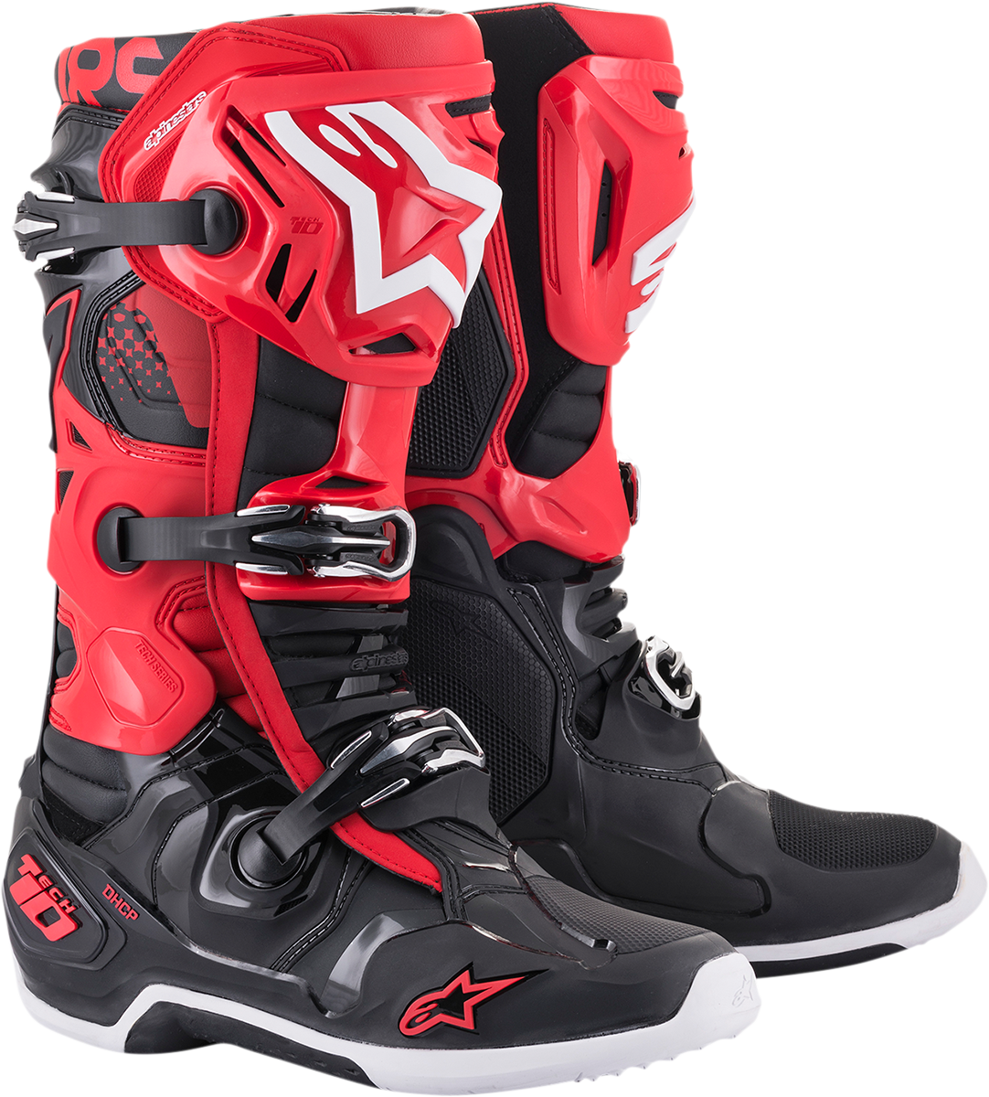 Alpinestars Tech 10 Black Red Mens Off road Riding Dirt Bike MX Racing Boots