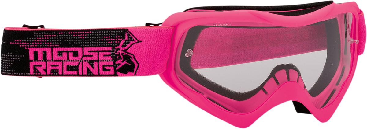Moose Qualifier Agroid Pink Unisex Motorcycle Riding Dirt Bike Racing Goggles MX