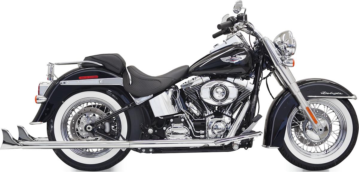 "Bassani Chrome 36"" True Dual Fishtail Exhaust 07-17 Harley Softail FLSTFB FLSS"