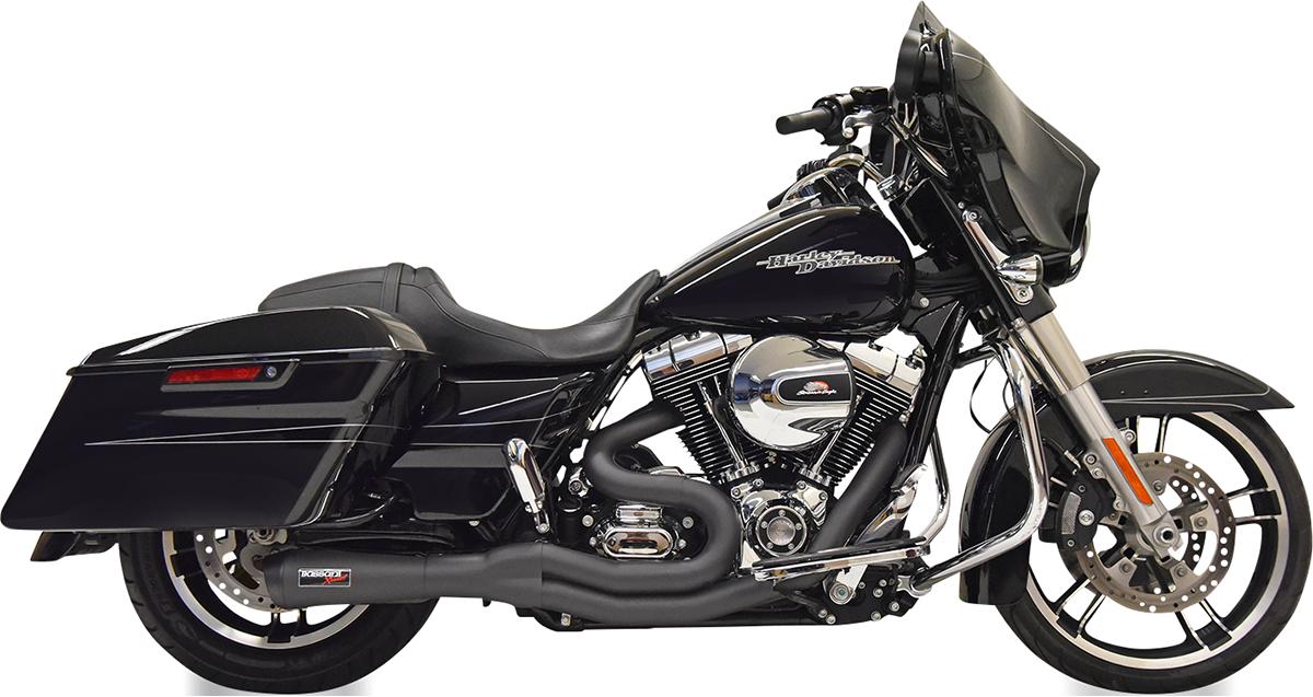 Bassani Black 2-1 Motorcycle Exhaust 2007-2016 Harley Touring FLHX FLTRX FLHTI