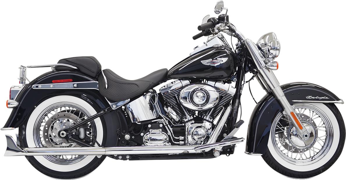"Bassani Chrome True Dual 30"" Fishtail Exhaust 2007-2017 Harley Softail FLSTNI"