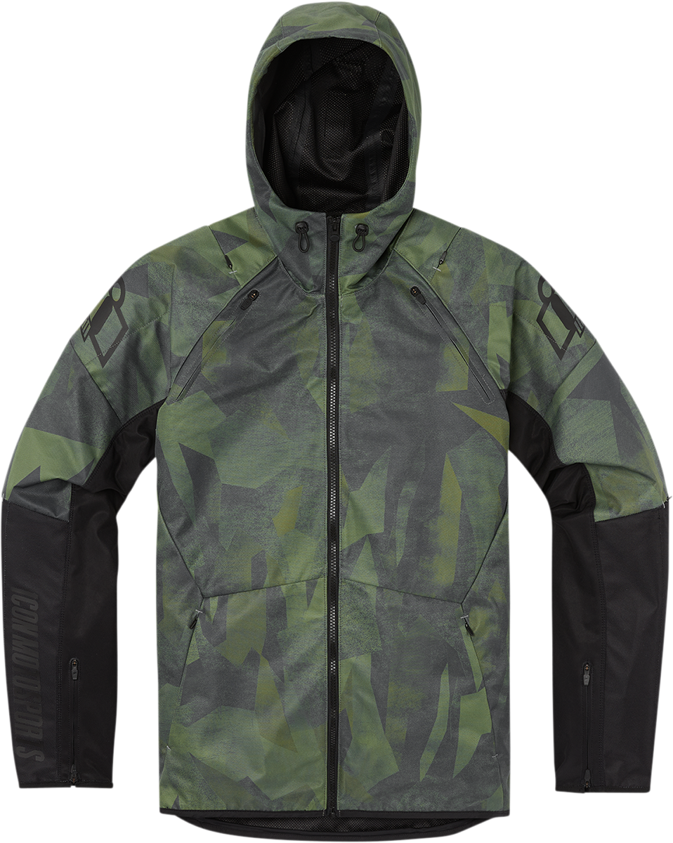 Icon Airform Battlescar Green Mens Motorcycle Riding Street Racing Jacket