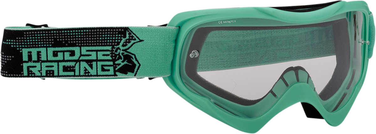 Moose Qualifier Agroid Mint Motorcycle Riding Dirt Bike Racing Goggles MX
