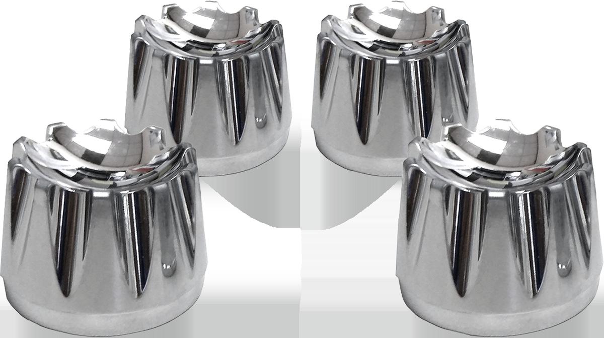 Avon Chrome Excalibar Engine Head Bolt Covers 1986-2020 Harley Softail Touring