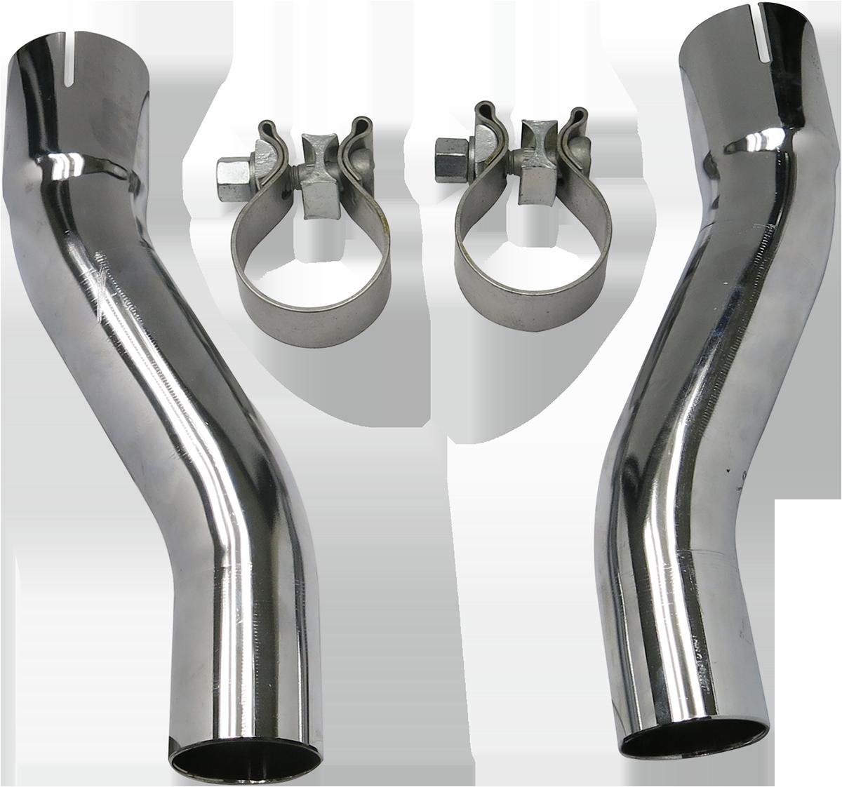 Bassani Chrome Exhaust Muffler Adapter Kit 2009-2016 Harley Trike FLHX FLHTCUTG